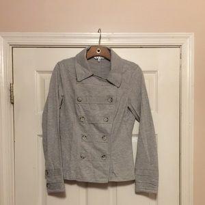 Military knit blazer